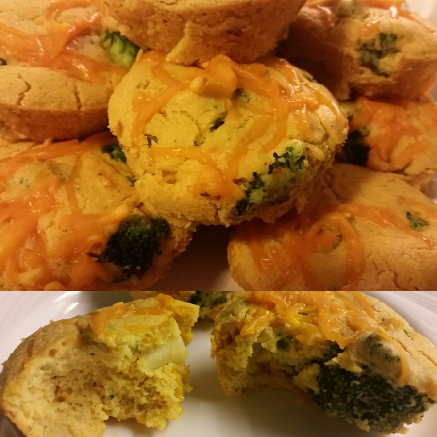 Savoury Vegan Broccoli Chedd'r Mini-Quiches