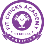Fit Chicks Academy Certified logo for Fitness & Nutrition Expert Certification